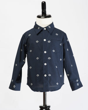 Hopper Shirt Long Sleeve | Navy Space