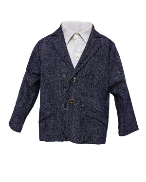 Huckleberry Blazer | Tiny White Dots