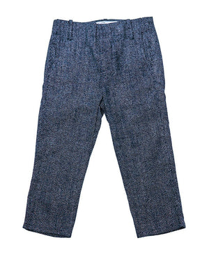 Kid's Suit Pants Navy With White Dots - front