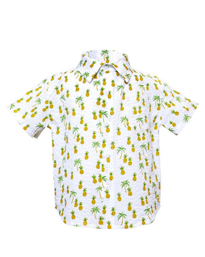 Hopper Shirt Short Sleeve | White Pineapples