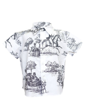 Hopper Shirt Short Sleeve | Black and White Living Dead 2.0