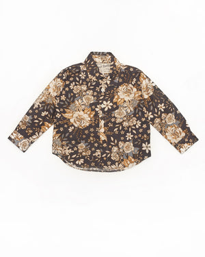 Long Sleeve Shirt | Navy Floral