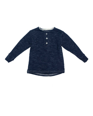 Henley | Navy Melange French Terry