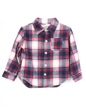 Hopper Shirt Long Sleeve | Vintage Red Plaid