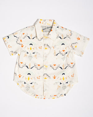 Cotton short sleeve wanderer shirt