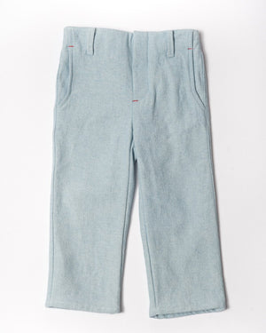 Sunwashed light denim slim trouser front