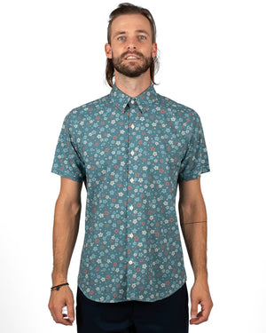 Short Sleeve Dylan | Blue Wildflowers