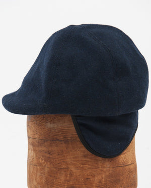 Kids Wool Cap - Navy on figure