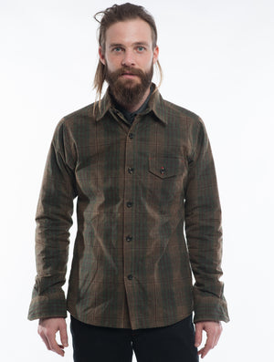 Weekender Jacket | Olive Plaid Waxed Cotton
