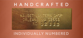 Engraved serial number to show authenticity of each handcrafted copper lantern.