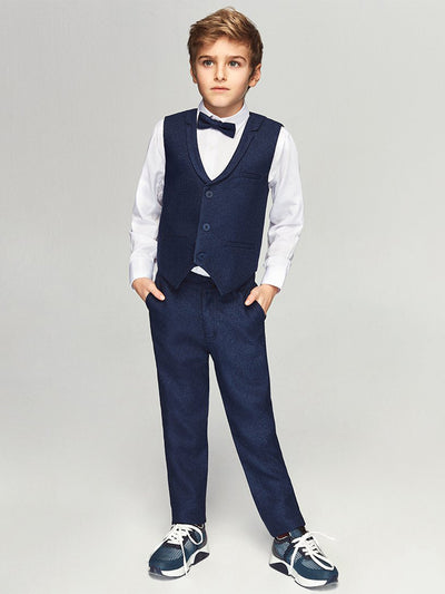 Gabriel Blå Väst SET - Chikids Fashion