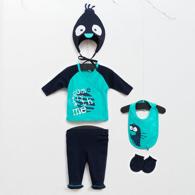 Little Penguin Set (5 pieces) - Chikids Fashion