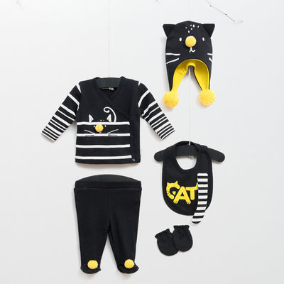 Little Cat Set (5 pieces) - Chikids Fashion