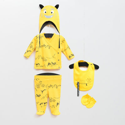 Yellow Set (5 pieces) - Chikids Fashion