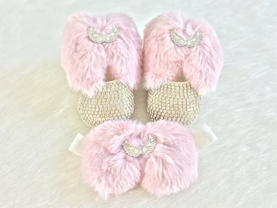 Angel Baby Shoes & Headband - Chikids Fashion