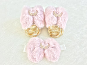 Gold Baby Shoes & Headband - Chikids Fashion