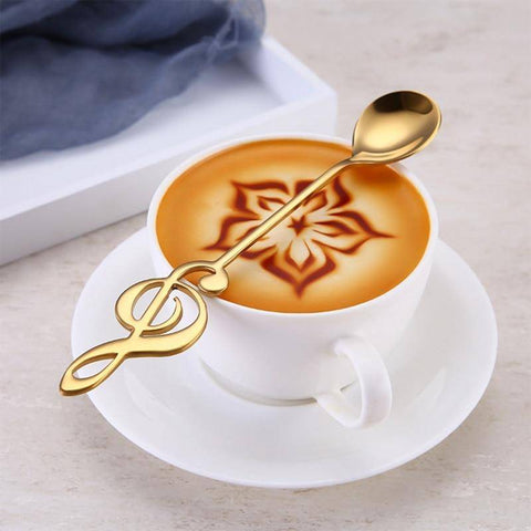 Image of Stainless Steel Treble Clef Spoon Coffee Scoops