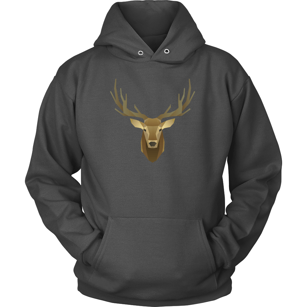 Deer Portrait, Real T-shirt Unisex Hoodie Charcoal S
