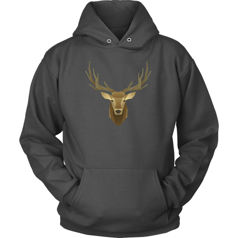 Image of Deer Portrait, Real T-shirt Unisex Hoodie Charcoal S