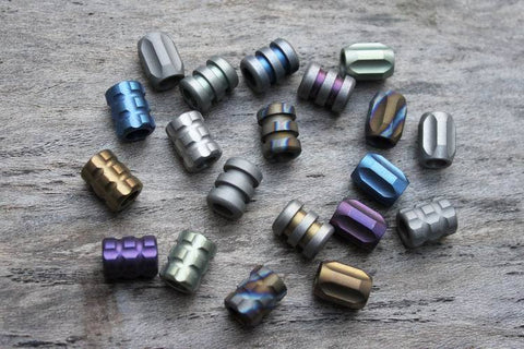 Titanium Paracord Beads - Perfect for your lanyard Paracord
