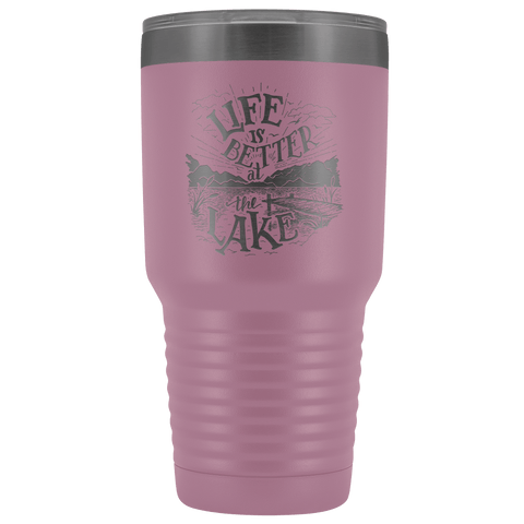 Image of Life is Better at the Lake | 30 oz. tumbler Tumblers Light Purple