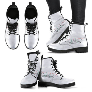 Women Photographer Premium Eco Leather Boots Women's Leather Boots - Black - Focal Length White US5 (EU35)