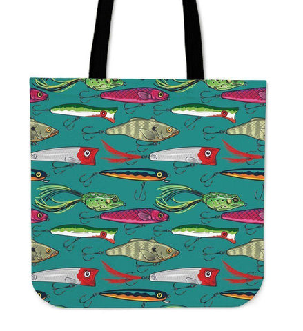 Image of Fishing Lure Tote Bag V.2 Tote Bag Small
