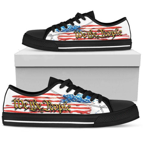 Image of We The People | Canvas Low Top Shoes Shoes Womens Low Top - Black - We The People US5.5 (EU36)