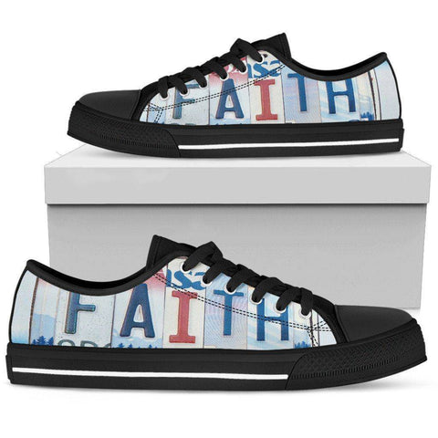 Walk By Faith | Premium Low Top Shoes Shoes Mens Low Top - Black - Mens Black US5 (EU38)