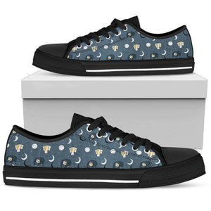 Premium Sleeping Sloth Shoes | High and Low Top Available Shoes Womens Low Top - Black - WBL US5.5 (EU36)