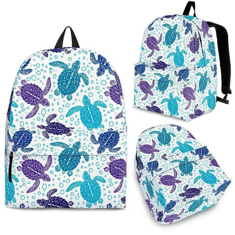 Groovy Sea Turtle Back Pack V.1 backpack Backpack - Black - Small Pattern Adult (Ages 13+)