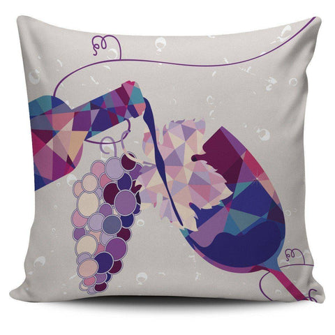 Stylish Geometric Wine Bottle and Glass Pillow Covers Pillow Case Wine Bottle and Glass 1
