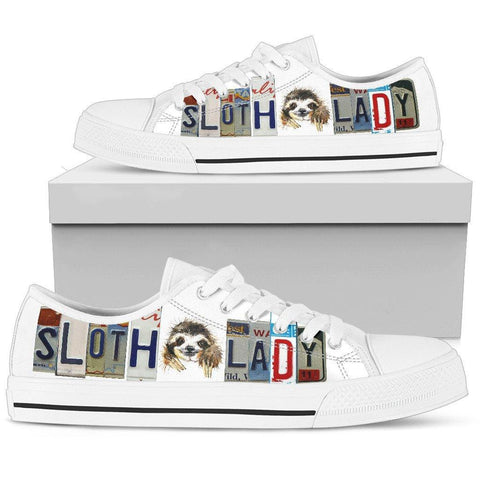 Sloth Lady Low Top Canvas Shoes
