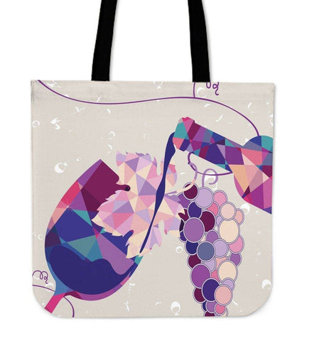 Image of Wine Bottle and Glass Tote | Perfect For Wine Lovers Tote Bag Wine Tote 2