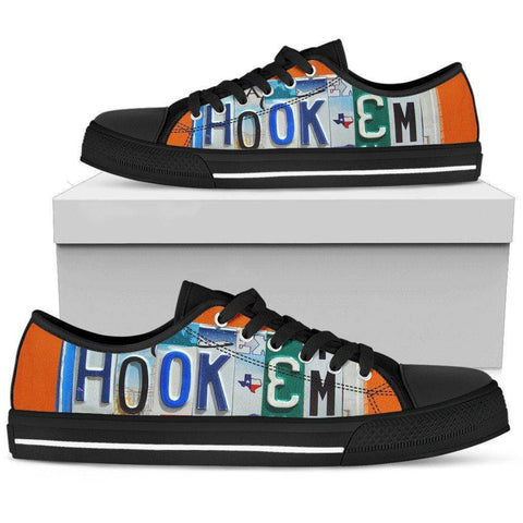 Image of Hook'em | Premium Low Top Shoes Shoes Womens Low Top - Black - Womens Black US5.5 (EU36)