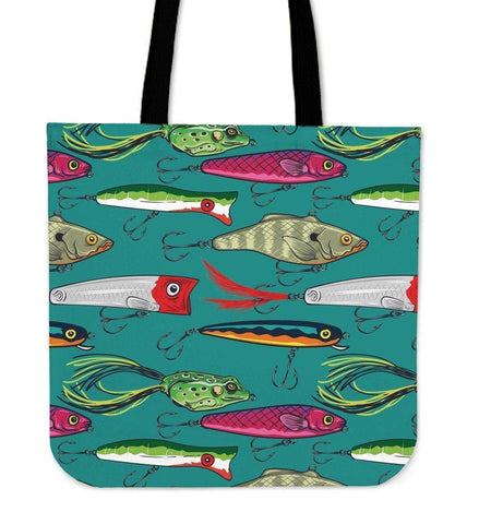 Image of Fishing Lure Tote Bag V.2 Tote Bag Large
