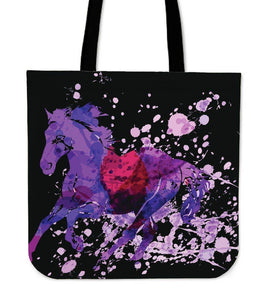 Wild Horse Canvas Tote Wild Horse Black Left