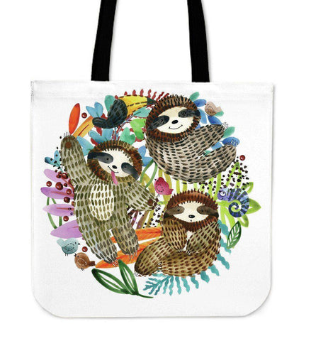 Image of Premium Sloth Tote Bags Sloth Watercolor