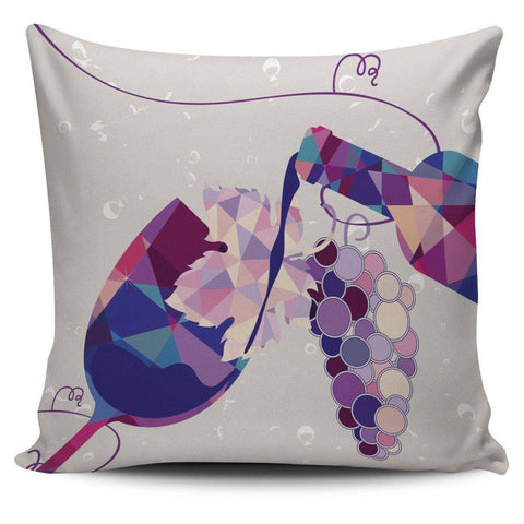Stylish Geometric Wine Bottle and Glass Pillow Covers Pillow Case Wine Bottle and Glass 2