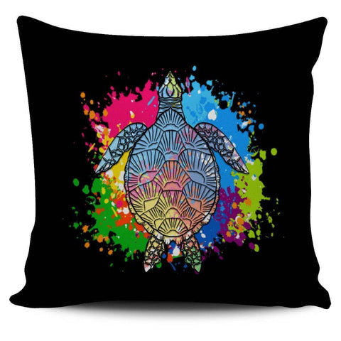 Color Splash Turtle Pillow Covers Pillow Case Black