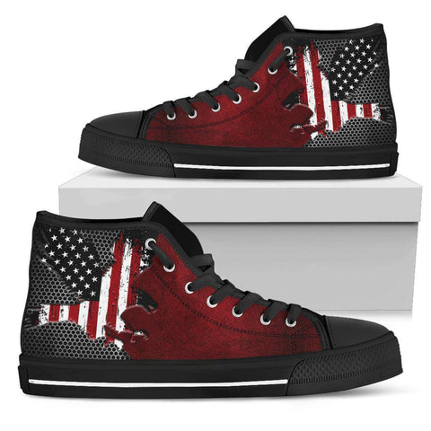 Image of American Eagle Of Freedom High Tops Shoes Womens High Top - Black - Black Sole US5.5 (EU36)
