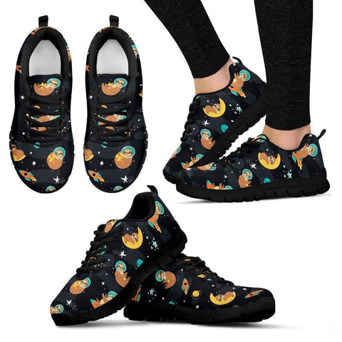 Space Sloth Sneakers Sneakers Women's Sneakers - Black - Women US5 (EU35)