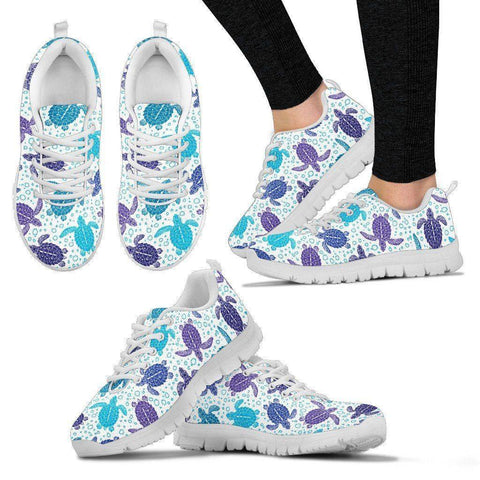 Premium Womens Turtle Sneakers Women's Sneakers - White - V.1 US5 (EU35)