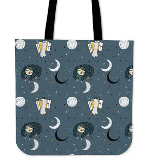 Super Cool Fun Sloth Tote Bags | 3 Patterns Tote Bag Sleeping Space Sloth