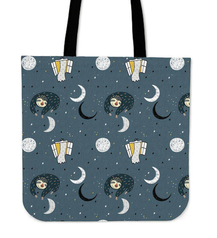 Image of Super Cool Fun Sloth Tote Bags | 3 Patterns Tote Bag Sleeping Space Sloth