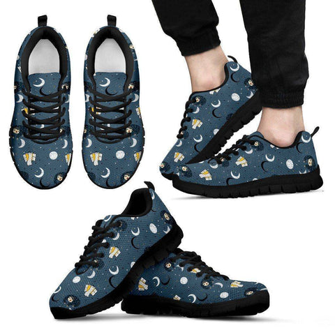 Sleeping Space Sloth Sneakers (Say that 5 times fast) Sneakers Men's Sneakers - Black - Men US5 (EU38)