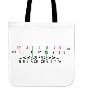 Focal Length Canvas Tote White Tote Bag