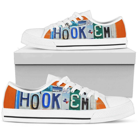 Image of Hook'em | Premium Low Top Shoes Shoes Womens Low Top - White - Womens White US5.5 (EU36)