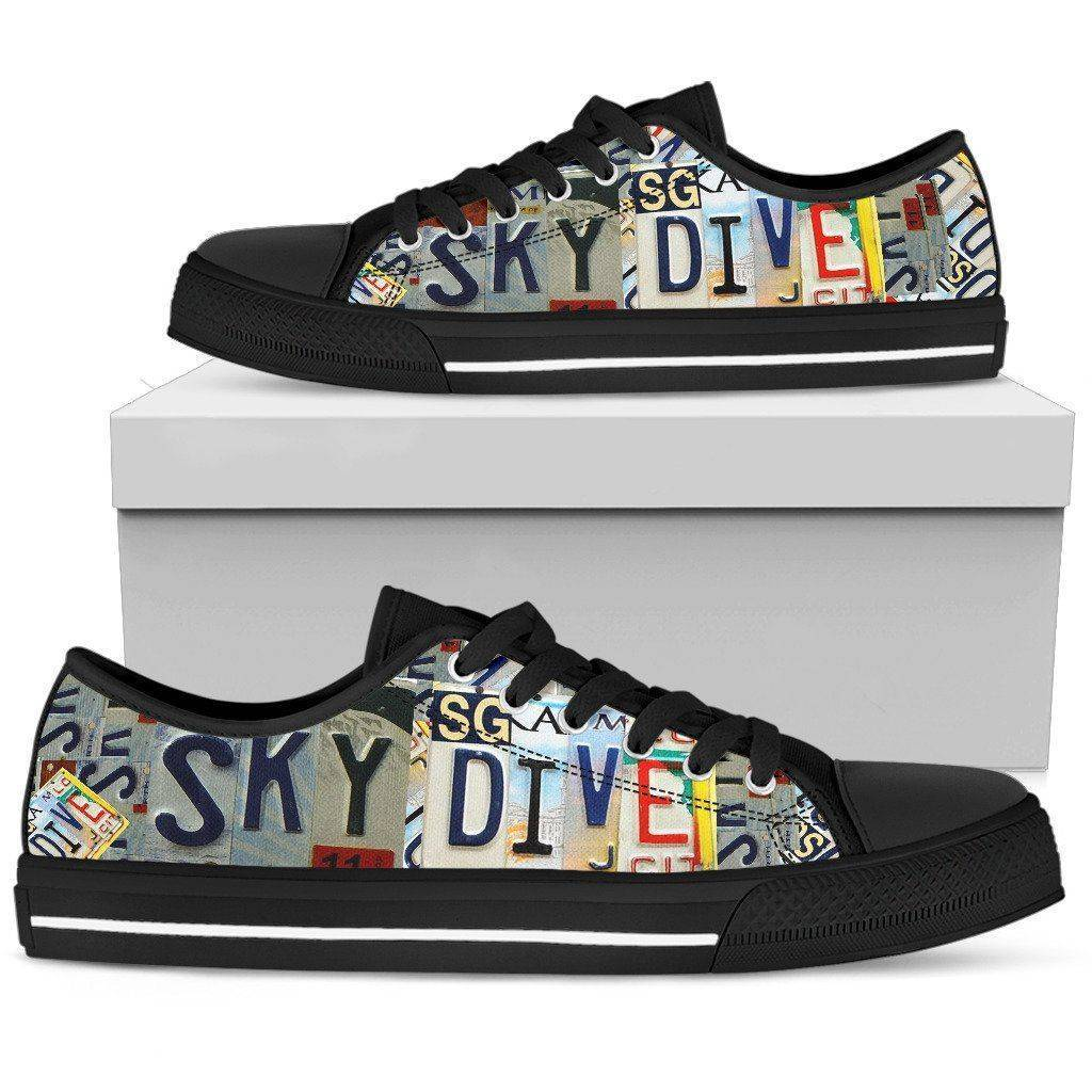 Sky Dive | Premium Low Top Shoe shoes Womens Low Top - Black - Black US5.5 (EU36)