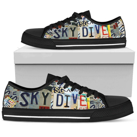 Image of Sky Dive | Premium Low Top Shoe shoes Womens Low Top - Black - Black US5.5 (EU36)